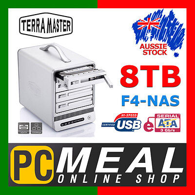 Terra Master F4 NAS 8TB USB System Network Storage Media Server 4 Bay RAID eSATA