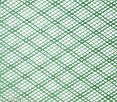 2mm1.2mx15cm PLASTIC NET FINE STRONG GREEN FLEXIBLE HDPE INSECT FISH MESH SCREEN