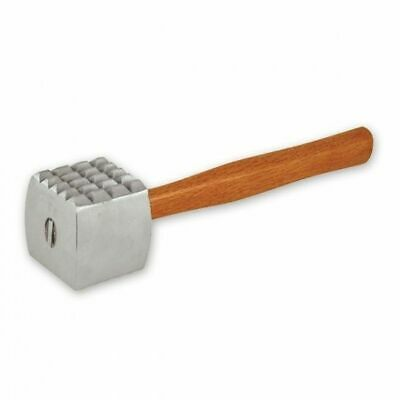 Meat Tenderizer, Aluminium Head with Wooden Handle, 240 x 70mm