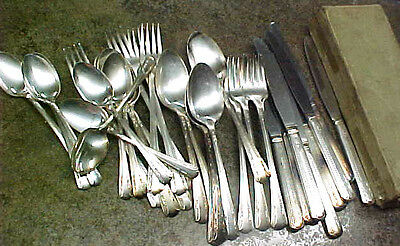 Lot of Sincerity Silverplate silverware eating utensils forks spoons knives