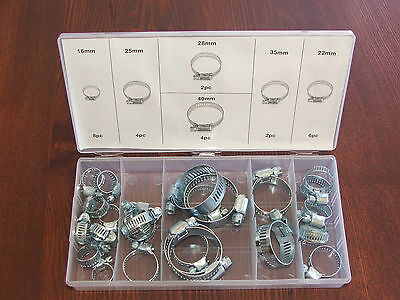 Hose Clamp 26Pc Steel Assortment/ Hose Clamp Kit