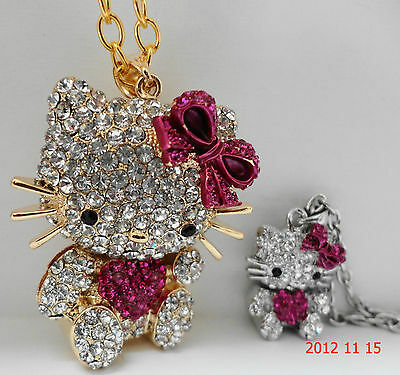 """""""HELLO KITTY BIG & SMALL 3D MOM & BABY NECKLACE"""" SEVERAL COLORS MUST SEE-SWEET"""