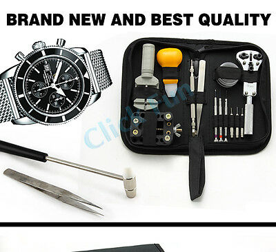 21 PCS Wrist Watch Band Link Pin Remover Case Opener Plier Repair Tools Kit Set