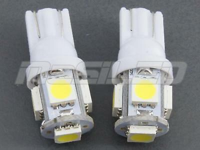 2 bombillas LED T10 W5W 5 SMD 5050 color blanco puro 5000K