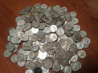 1/2 POUND LB ALL DIMES U.S.Junk Silver Coins ALL 90Silver 1964 + Previous ONE 1