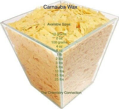 Carnauba Wax Flake 4 oz to 25 lb sizes PURE ORGANIC CARNAUBA + FREE SHIPPING