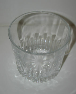 Wow Vintage MOD Thick Crystal Glass Bar Cocktail Ice Bucket 1960s RARE