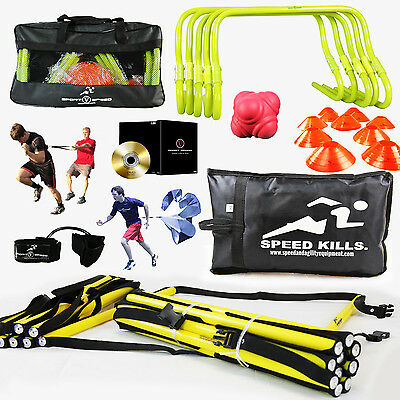 New Speed Workout Equipment   Agility Training Kit   DVD & Free Carry Bag