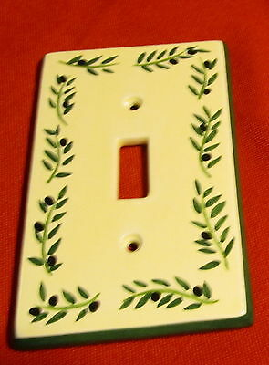 Porcelain Coordinating Wall Plates Firenze Olives ~ Light Switch ~ Single Toggle