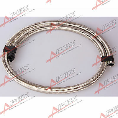 Stainless Steel Double braided 1500 PSI -4AN AN4 Oil Fuel Gas Line Hose