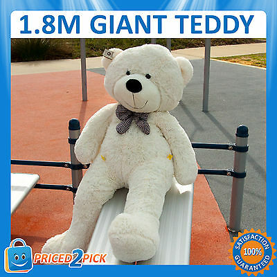 NEW 1.8M Giant Huge Big Stuffed Teddy Bear Toy Animal Doll White Valentines Day
