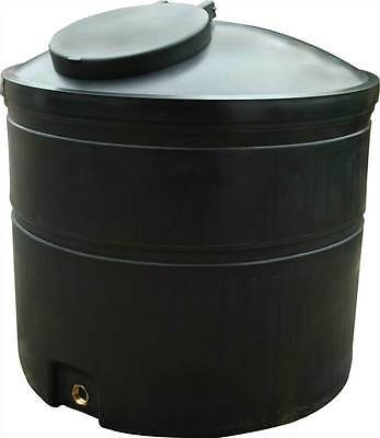 """Ecosure 1300 Litre Water Butt Rain Water Harvesting Tank Black 2"""" Outlet"""