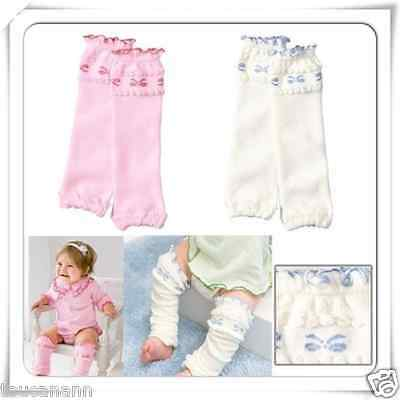 Baby And Toddler Ruffle Top Bow Leg Warmers ~ Your Color Choice