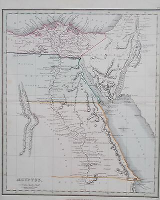 Antique Map of Egypt. 1869. Alexander Findlay. Original.