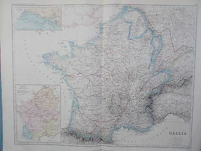 Large Map of Ancient France. 'Gallia' 1872 William Smith Ancient Atlas. EUROPE.