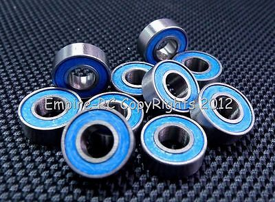 (10 PCS) MR115-2RS (5x11x4 mm) Rubber Sealed PRECISION Ball Bearing (BLUE)