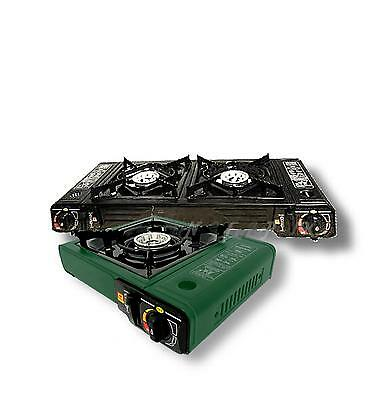 Portable Hob Burner Gas Cooker Camping Stove Camp Fishing BBQ Butane Canister