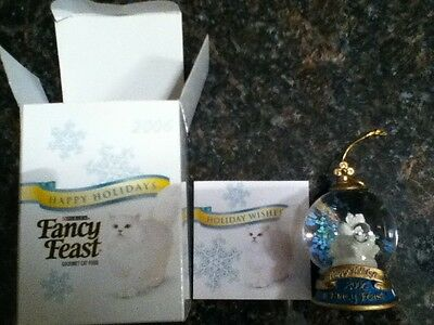 2006 Fancy Feast Cat Christmas Ornament BRAND NEW IN BOX!