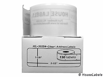 1 Roll of 130 Lightly Frosted Address Labels For DYMO® LabelWriters® 30254