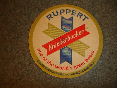 Old Vtg Antique Collectible Knickerbocker Beer Coaster Jacob Ruppert NY