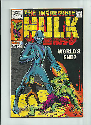 INCREDIBLE HULK #117 Silver Age Hulk versus Super Humanoid! GRADE 8.0
