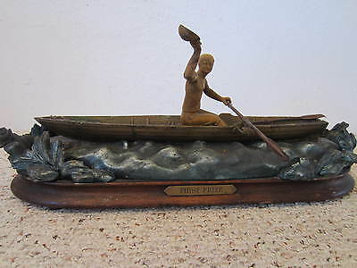 Antique Scull Boat Single Rower Racing Trophy