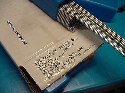 """Techalloy 316/316L Stainless Steel TIG welding wire 10LB 3/32"""" Made in USA"""