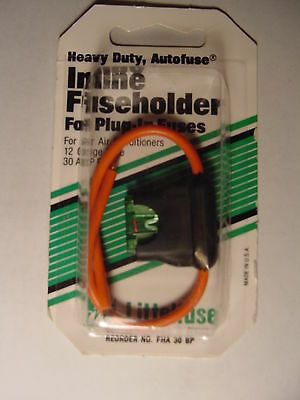 Littelfuse ATO Inline Fuse Holder, Heavy Duty, Autofuse  FHA30BP Incl 30a Fuse