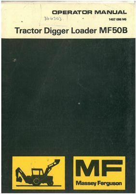 Massey Ferguson Tractor Loader Digger Mf50B Manual 50B