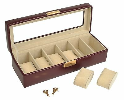 Watch Box Collector Collection Jewelry Case For 6 Watch Watches Leather