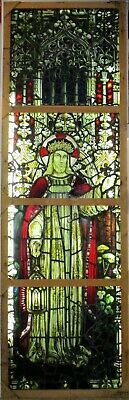 OLD ENGLISH STAINED GLASS CHURCH WINDOW Circa 1790 Manchester England