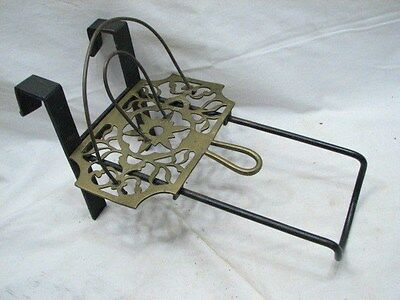 Brass Wrought Primitive Hearth Trivet Toaster Folk Art Star Fireplace Sad Iron B