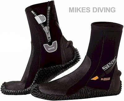 DIVE BOOTS by SEAC - Wetsuit diving surfing Boots 5mm Neoprene SURF
