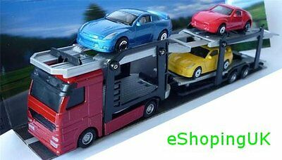 New Children Boy Toy DIECAST Car Transporter TEAMSTERS Red Vehicle Birthday Gift