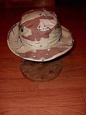 U.s Military Army Issue Camo Boonie Hat Desert Camouflage Bucket Style Hat 6 3/4
