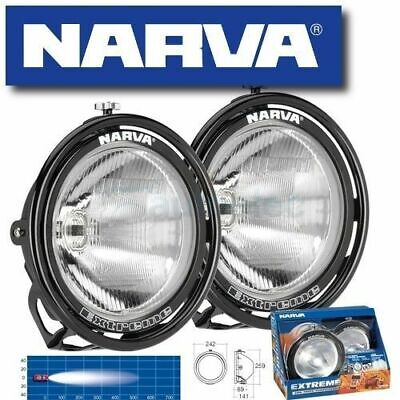 Narva Extreme Spread Wide Beam Driving Lights Pair Lamps Kit New Black Rim 71758