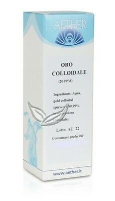 Aether Oro Colloidale Da 20 Ppm Contro La Stanchezza 50Ml
