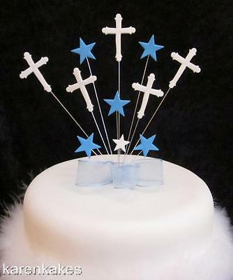 Christening/first Holy Communion Cake Topper Blue