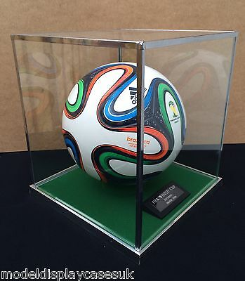 Glass Top Football Display Case Only - For Full Size 5 Footballs + Fixed Holder