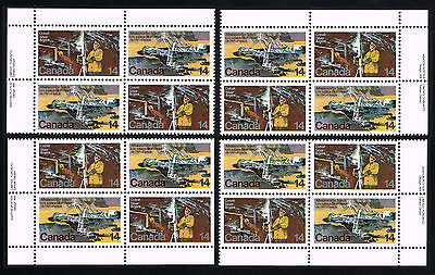 Canada Sc# 765 - 766 = 1978 Natural Resources PLATE BLOCK SETS = MINT VF+ NH