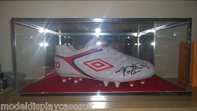 Signed Single Football Boot - Glass Display Case Only