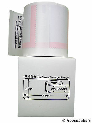 2 Rolls of 200 Internet Postage Labels for DYMO® LabelWriters® 30915 BPA Free