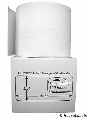 10 Rolls of 100 3-Part Internet Postage Labels for DYMO® LabelWriters® 30387