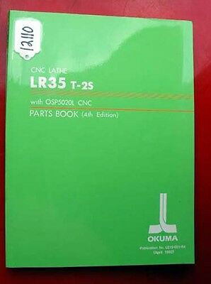 Okuma LR35 T-2S CNC Lathe Parts Book: With OSP5020L CNC LE15-051-R4 (Inv.12110)