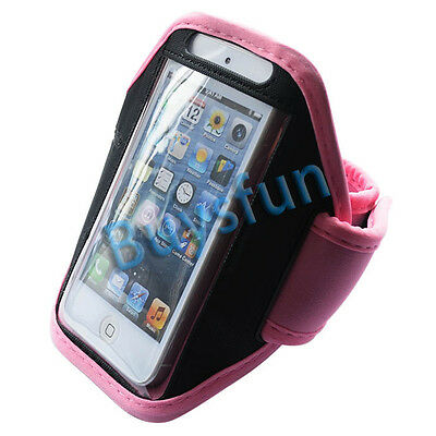 New Pink Sport Gym Armband Cover Case for Apple iPod Touch 5 5G