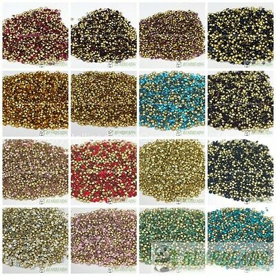 1440Pcs 10Gross Top Quality Czech Crystal  Rhinestones Round Pointed Foiled Back