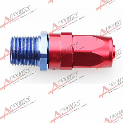 "-10AN 10AN To 1/2""NPT Straight Swivel Oil Gas Line Hose End Fitting Red/Blue"