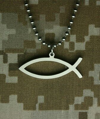 GI JEWELRY - Limited Edition, ICHTHYS Military Pendant Special Factory Over Run