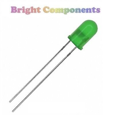 50 x Green LED 5mm - Diffused - 1st CLASS POST
