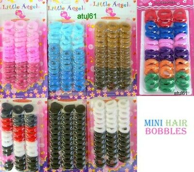 Small Mini Black/Mix Baby Hair Bobbles/Endless Elastic Hair Ponio's/Hairband New